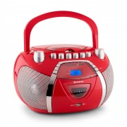 Auna Beeboy Radiocasete CD MP3 USB rojo