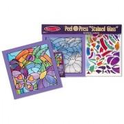 Rainbow Garden 'Stained Glass': Peel & Press Sticker By Number Series + FREE Melissa & Doug Scratch Art Mini-Pad Bundle [42642]