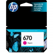 Cartucho de Tinta HP 670-Magenta