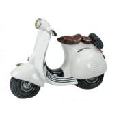 Hucha scooter blanca