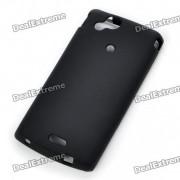 PVC Etui coque pour Sony Ericsson Xperia Arc LT15i/X 12 - noir