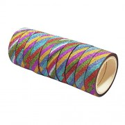 AsianHobbyCrafts Gift Wrapping Tapes Printed Multi-Colored (ZigZag) used for Scrapbooking, Hobbycrafts, Gift-wrapping etc. Width: 1/2 Inch; Qty: 10 Designs per pack Length: 3 Mtrs per Design