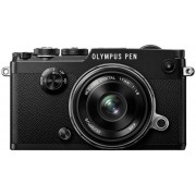 Aparat Foto Mirrorless Olympus PEN-F, Body, 20.3 MP + Obiectiv EW-M1718 (Negru)