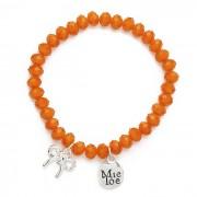 MieToe Armbandje Strik Oranje