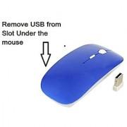 Best Wireless Optical Mouse (Blue): Ergonomic Grip Ultra Thin Design USB 2.4 G Receiver apple accessory Capacitive Screen Stylus Pen FREE