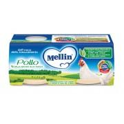 Mellin Omogeneizzati di carne - Pollo - Confezione da 160 g ℮ (2 vasetti x 80 g)