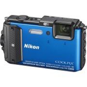 Aparat Foto Digital NIKON COOLPIX AW130, Filmare Full HD, 16MP, Zoom Optic 5x, GPS, Wi-Fi, Rezistent la apa, socuri, praf si frig (Albastru)