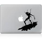 JMM - Black-White Cartoon Animal Design Laptop Notebook Skin Sticker Cover Vinyl Art Decal for 13.3 inch Apple Macbook