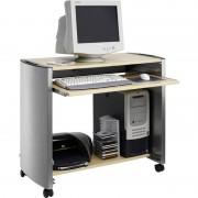 DURABLE DESIGN LINE PC-Arbeitsplatz, metallic silber/ahorn