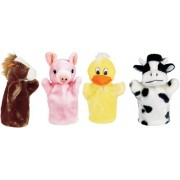 Get Ready Kids Farm Puppet Set: Cow, Horse, Pig and Duck