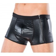 Andalea Double Side Zipper Boxer Brief Underwear Black MC-9052