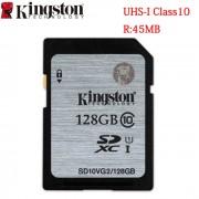 Kingston Digital 128GB SDHX Class 10 UHS-I 45R/10W Flash Memory Card (SD10VG2/128GB)