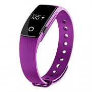 moreFit H6 Fitness Tracker with Heart Rate Monitor, Wireless Bluetooth Touch Screen Smart Watch Healthy Wristband, Purple by moreFit