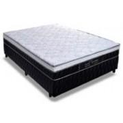 Conjunto Box Colchão Probel Molas Pocket Perfil Springs Plus + Cama Box Nobuck Nero Black - Conjunto Box King Size - 193 x 203