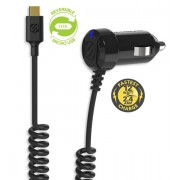 StrikeDRIVE™ incarcator de masina micro USB reversibil EZTIP™ (Negru)