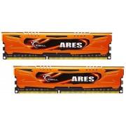 Mémoire LONG DIMM DDR3 G.Skill DIMM 16 GB DDR3-1600 Kit F3-1600C10D-16GAO, série Ares 16 GB CL10 10/10/30 2 barettes