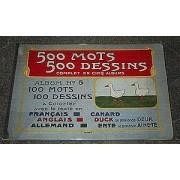 500 Mots 500 Dessins, Album Numéro 5, 100 Mots 100 Dessins À Colorier Avec Le Texte En Français, Anglais, Allemand