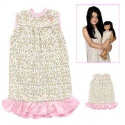 Girl and Doll Matching Outfit Clothes - Pajama Nightgown Set for Girl & Doll - Fits American Girl Dolls, Dollie & Me, Madame Alexander and other 18 inches Dolls - Girl Size 10 by Pink Butterfly Closet