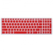 FORITO Keyboard Cover Silicone Rubber Skin for ASUS 15.6 inch F555 F555LA F555LB F555LD F555LJ F556UA GL502VS UX501VW X540LA X540SA X550ZA K501UX K501UW GL552VW Laptop US Layout (Red)