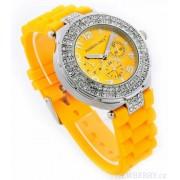 Náramkové módní hodinky LSW001 žluté