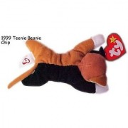 1999 McDonalds Happy Meal Toy Ty Teenie Beanie Babies #12 Chip the Cat - Calico Cat Plush