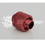 Fiting compresie alama Bitspower 1/4inch la 16/11mm, Deep Blood Red