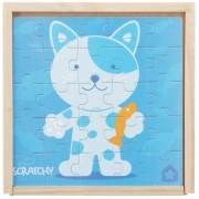 House of Toys - 450405 - Puzzle Enfant - Coffret 4 Puzzles