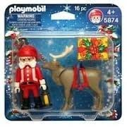 Playmobil 5874 Santa & Reindeer Figures,