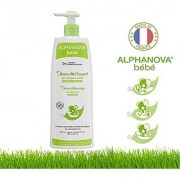 Alphanova Bebe - Baby Organic Democleasning Hair & Body Wash (500 ML) Organic Baby Formula with Water Lily