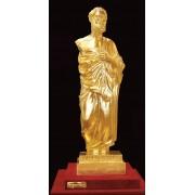 """Ръчно изработена статуетка с 22 карата златно покритие """"Хипократ"""" (A025)"""