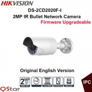Hikvision Original English Surveillance Camera DS-2CD2020F-I POE 2MP IR Bullet IP Camera 30m Onvif CCTV Camera outdoor IP67