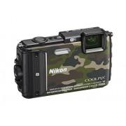 """Nikon Coolpix AW130 Cámara compacta de 16 Mp (pantalla de 3"""", zoom óptico 5x, estabilizador electrónico, vídeo Full HD, WiFi), negro"""