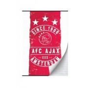 Schrift ajax rood/wit since 1900 A5 gelijnd: 3-pack