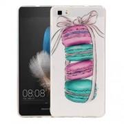 Huawei P8 Lite Macarons Pattern IMD Workmanship Soft TPU Protective Case