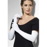 Long White Gloves