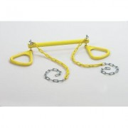CreativeCedarDesigns Trapeze Bar with Triangle Ring BP 005 Color: Yellow