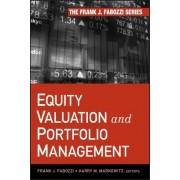 Equity Valuation and Portfolio Management by Frank J. Fabozzi