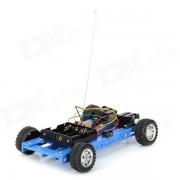 DIY Montado 2 canales 4-Wheel R / C de coches de juguete - Negro + blanco