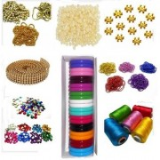 Vahvaa Silk thread bangle making designing kit with all materials multiple accessories- with kada bangles