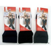 Mini meia térmica 3 pares tamanho único de côr preta,cinza e castanho
