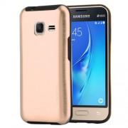 MOTOMO for Samsung Galaxy J1 Mini(2016) / J105 Brushed Texture Metal + TPU Protective Case(Gold)