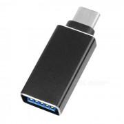 USB 3.1 Type-C to USB 3.0 AF OTG Adapter for Laptop / Tablet PC - Black
