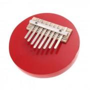 Kalimba 8-Key ajustable redonda Pulgar Piano - Rojo