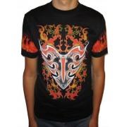 Koszulka z dwustronnym nadrukiem - ognisty tribal