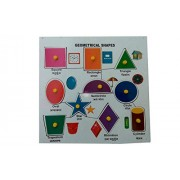 Tinny Educational Aids Geometrical Shape Board Learning Puzzle for Kids Education