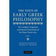 The Texts of Early Greek Philosophy by Daniel W. Graham