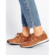 New Balance 420 Perforated Suede Trainers In Tan - Cream (Sizes: UK 4, UK 9, UK 8)