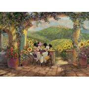 Clementoni - Puzzle de 1000 piezas, High Quality, diseño Mickey & Minnie: Amor En La Toscana (392407)