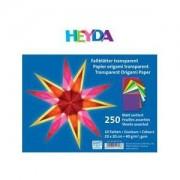 HEYDA Papier Origami, transparent, couleurs assortis, 40g/m2