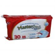 Fraldas Geriátricas Descartáveis Para Adultos Masterfral Soft Tamanho Médio de 40 Kg A 70 Kg Com 30 Unidades
